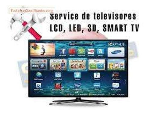 reparación de televisores smart tv, 3d,4k,leds..solo sjl