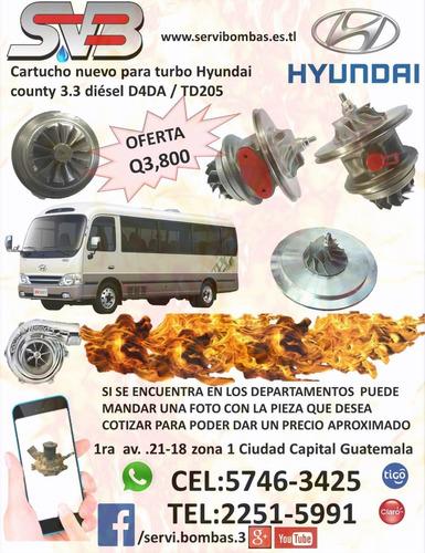 reparacion de turbo diesel hyundai h1 2.5 crdi d4cb 140hp/