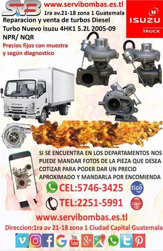 reparacion de turbo diesel isuzu npr 4bd2-tc 3.9 guatemala