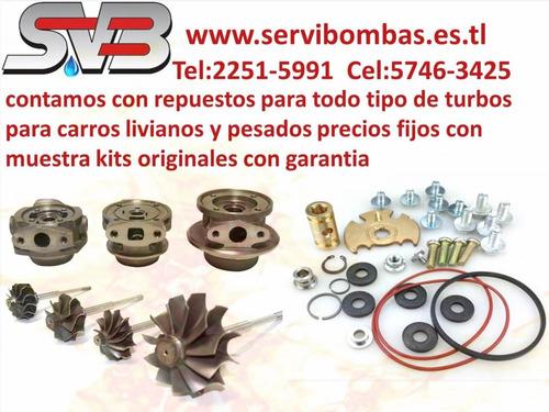 reparacion de turbo diesel  kia sorento 2.5 crdi,d4cb/140cv