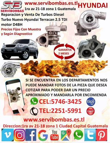 reparación de turbo hyundai 4d34t 3.9,3.5 d4da guatemala
