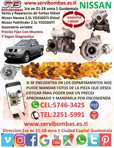 reparacion de turbo nissan navara zd30 3.0l/d22 guatemala