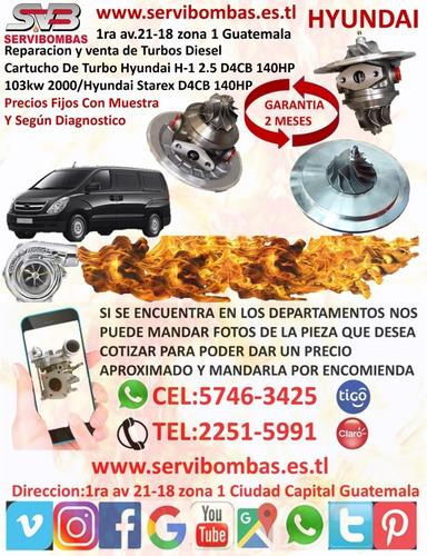 reparacion de turbos diesel hyundai h1 2.5 crdi d4cb 140hp/