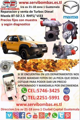 reparacion de turbos diesel  mazda bt-50 pro 2.2ltr /tdci di