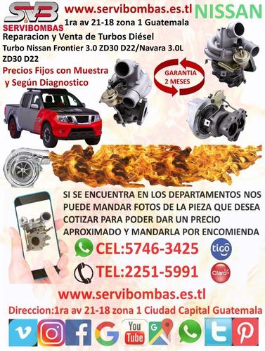 reparación de turbos diésel nissan x-trail 2.2 guatemala