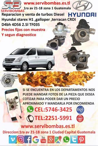 reparación de turbos  hyundai grace h100 2.5 porter gt
