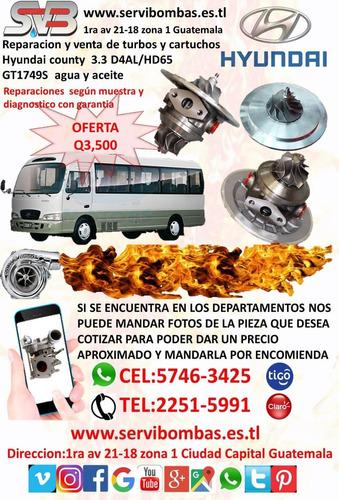 reparacion de turbos hyundai terracan 2.9 crdi diesel