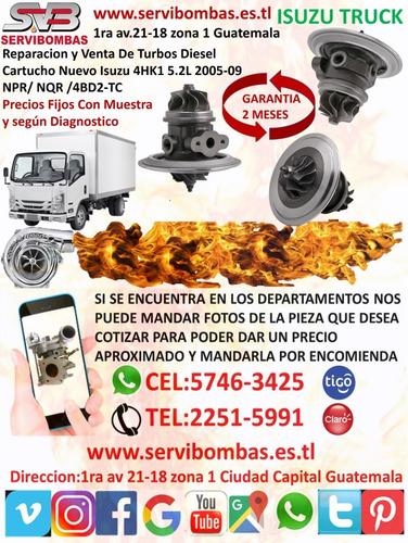 reparación de turbos isuzu d-max 3.0 4jb1,4jj1 rhf4 guat