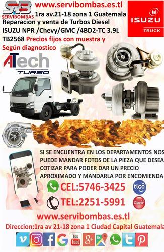 reparacion de turbos isuzu rodeo 2.8 td diesel 4jb1t guatema