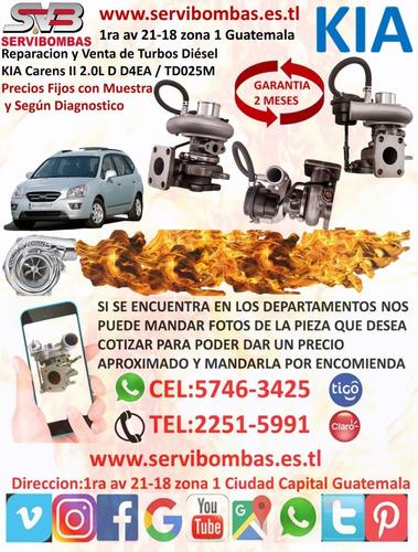 reparacion de turbos kia combi 3.3 diesel d4al guatemala