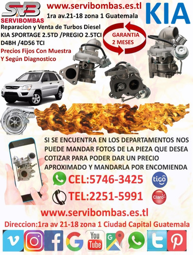 reparacion de turbos kia sorento 2.5 crdi guatemala