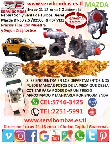 reparación de turbos mazda b2500 2.5  rhf5/ vj33 /vj26/wl84