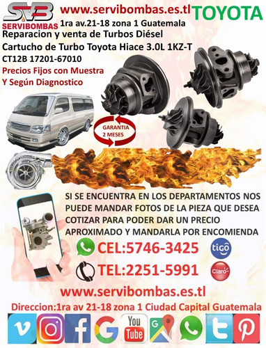 reparación de turbos toyota 4runner 3.0l d 1kz-t ct12b guate