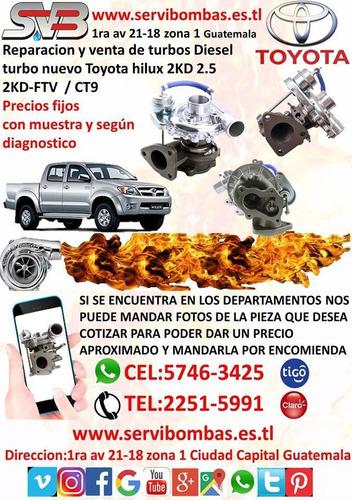 reparación de turbos toyota hilux 2.8/2.4 1gd/2gd  ct16v pra