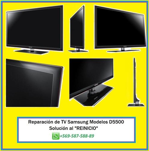 reparación de tv samsung d5500: 32d5500 y 40d5500 - reinicio