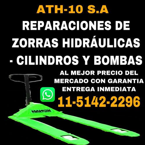 reparación de zorras hidráulicas cilindros y bombas y mas