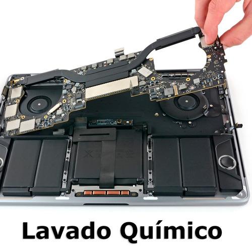 reparacion derrame de liquido macbook pro, ñuñoa