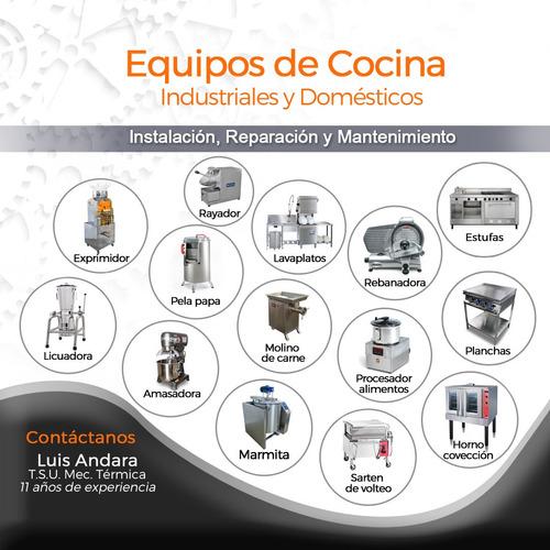 reparación e instalación de equipos industriales y doméstico