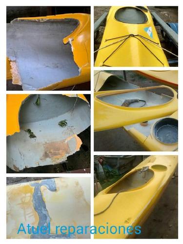reparación en fibra de vidrio, lanchas, kayaks, piraguas,etc