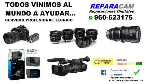reparación fotografia ,cámaras , lentes , gopro , filmadora