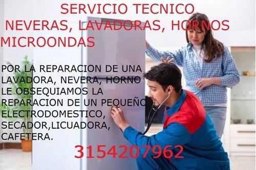 reparación hornos microondas, lavadoras, neveras 3117873398