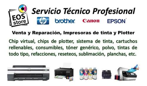 reparación impresora logica canon plotter chip virtual eos