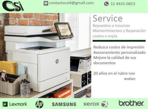 reparacion impresoras hp lexmark samsung brother ricoh epson