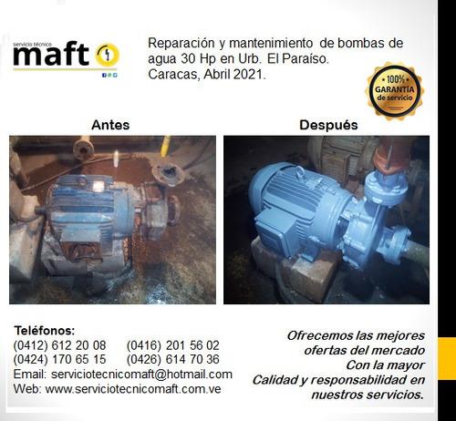 reparación instalación de bombas de agua en caracas