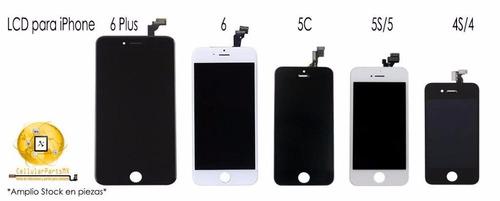 reparacion iphone  5 6 7 y 7 plus cambio pantallas 30min