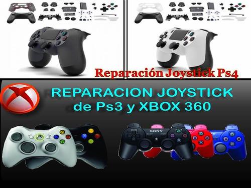 reparación joystick de xbox 360, one, ps3 y ps4 garantía