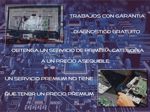 reparación laptops, pcs, tablets, tvs led/lcd, monitores.