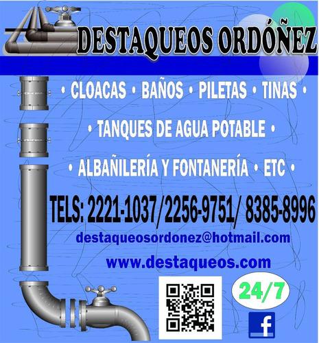 reparacion limpieza destaqueos tuberias tanques septicos