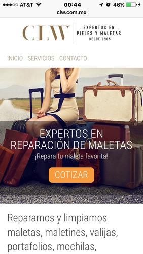 reparacion maletas limpieza de bolsas pintura chamarras piel