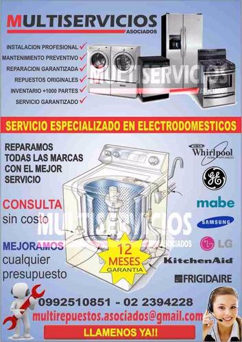 reparación mantenimiento lavadoras calefones secadoras