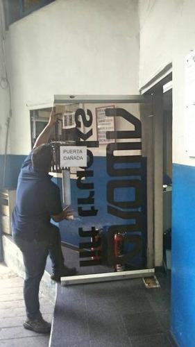 ^reparación mantenimiento puertas  vidrio frenos hidráulicos