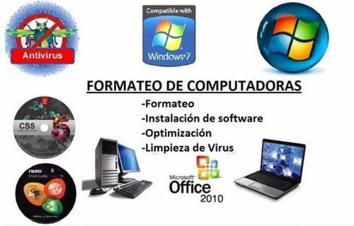 reparación, mantenimiento y asesoría de computadoras&laptos