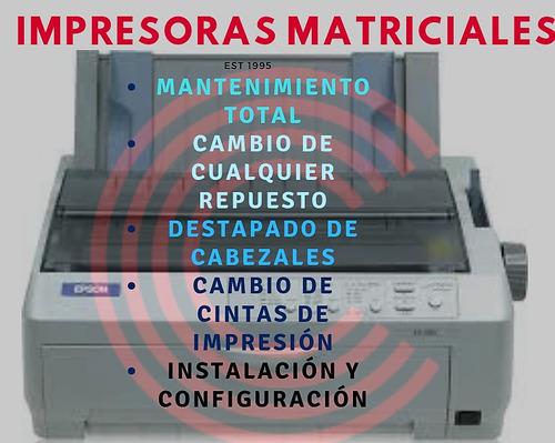 reparación, mantenimiento y instalación de impresoras