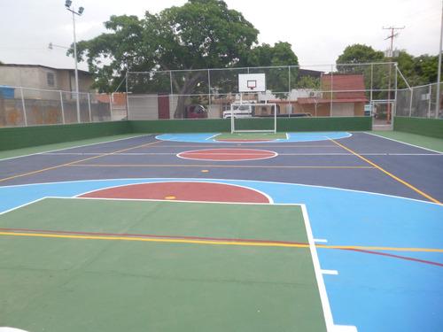 reparacion, mantenimiento y pintura  de canchas  deportivas