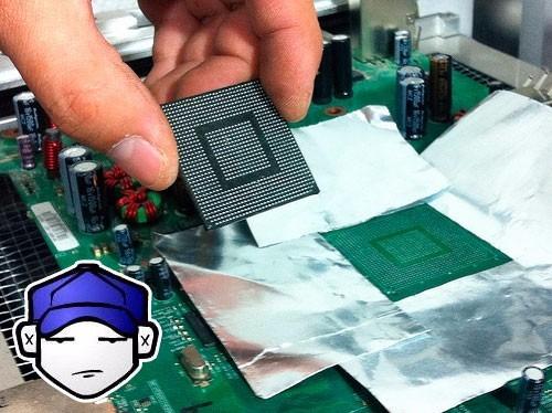 reparacion microsoft xbox 360 reballing luces rojas e64 e74
