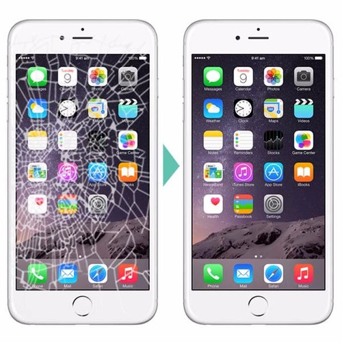 reparacíon modulo pantalla vidrio iphone 6 6g ramos mejía