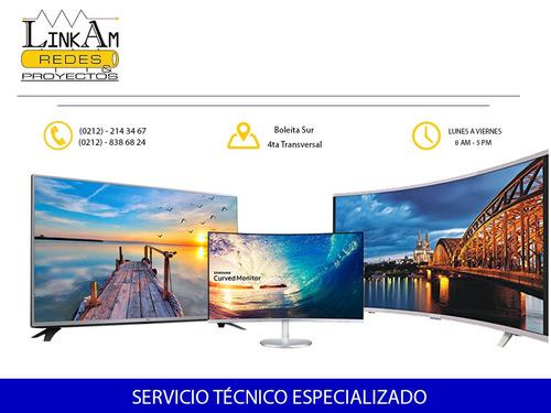 reparación monitores televisores lcd led lg samsung dell