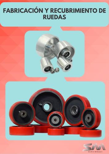 reparación montacargas transpaletas ruedas repuestos cauchos