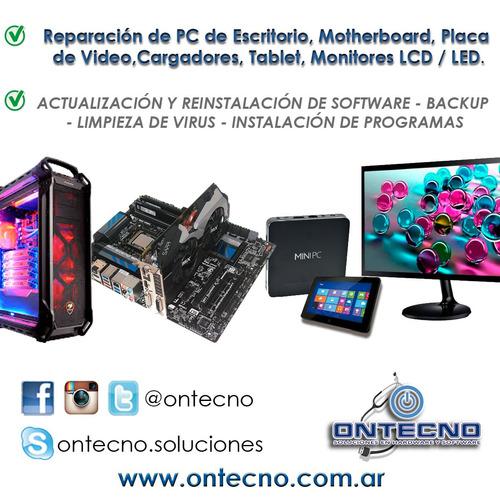reparación notebook /  aio / mother / pc / monitores / soft