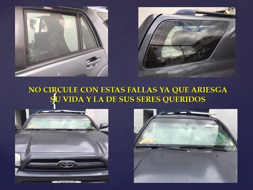 reparación o cambio de vidrios  vehículos blindados