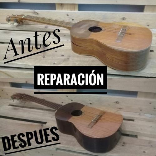 reparación o restauración de instrumentos musicales