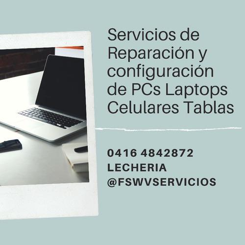 reparacion pc lapto computador celular lecheria