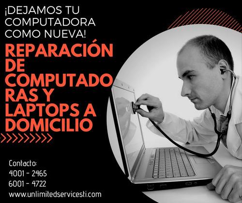 reparación pc y laptop a  domicilio 24/7