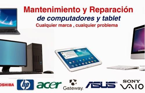 reparacion pc y notebook en domicilio, presupuesto sin costo
