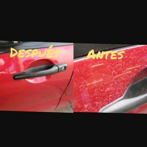 reparación pulido de parabrisas y vehículos con lluvia ácida