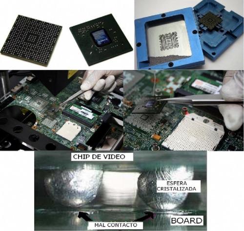 reparacion reballing xbox360 xboxone ps3 ps4 laptop sinvideo
